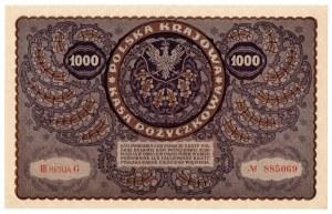 II Rzeczpospolita, 1000 marek polskich 1919 III SERJA AG