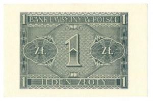 Generalne Gubernatorstwo, 1 złoty 1941 BB
