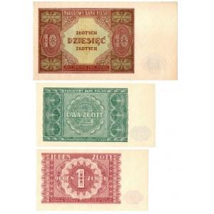 PRL, zestaw 1-10 złotych 1946