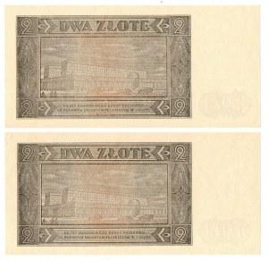PRL, 2 złote 1948 - zestaw 2 egzemplarze - seria BR