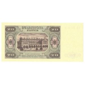 PRL, 20 złotych 1948 HM