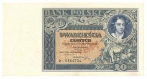 II Rzeczpospolita, 20 złotych 1931 DH