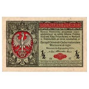 Generalne Gubernatorstwo, 1/2 marki polskiej 1916 Generał