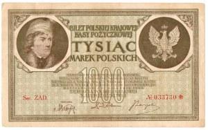 II Rzeczpospolita, 1000 marek polskich 1919 ZAD