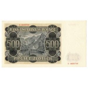 Generalne Gubernatorstwo, 500 złotych 1940 B