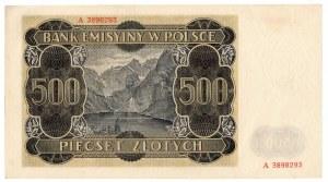 Generalne Gubernatorstwo, 500 złotych 1940 A