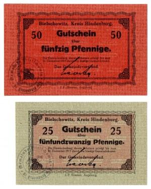 Bielszowice, zestaw 25 i 50 fenigów