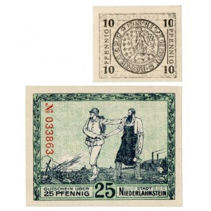 Niemcy, zestaw dwóch notgeldów