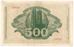 Niemcy, 500 marek 1922 Monachium