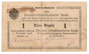 Nimiecka Afryka Wschodnia - zestaw 2 egzemplarze 1 Rupia 1916