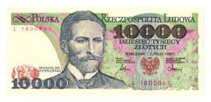 PRL 10 000 złotych 1987 L