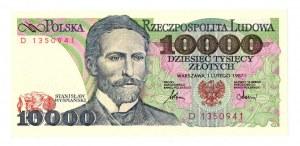 PRL 10 000 złotych 1987 D