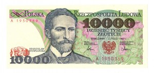 PRL 10 000 złotych 1987 A
