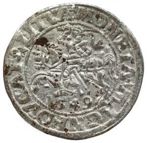 Zygmunt II August, Półgrosz 1549, Wilno - LI/LITVA