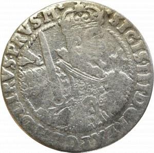 Zygmunt III Waza, Ort 1622, Bydgoszcz - PRVS M ciekawa korona