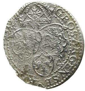 Zygmunt III Waza, Szóstak 1596, Malbork - mała głowa