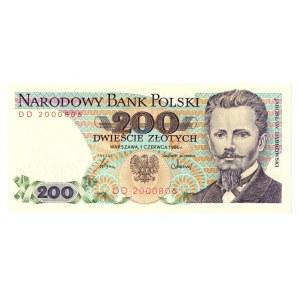 PRL, 200 złotych 1986 DD