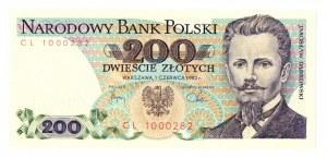 PRL, 200 złotych 1982 CL