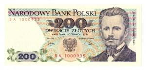 PRL, 200 złotych 1979 BH