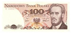 PRL, 100 złotych 1975 D