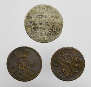 Stanisław August Poniatowski, zestaw 3 monet