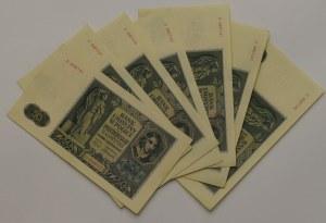 Generalne Gubernatorstwo, Zestaw 50 złotych 1941 - 7 egzemplarzy