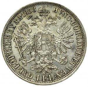 Austro-Węgry, Franciszek Józef, 1 floren 1858
