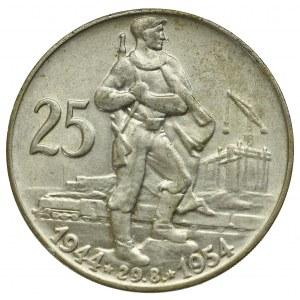 Czechoslovakia, 25 koruna 1954