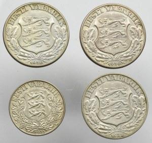 Estonia, set 1 and 2 krooni 1932(4 pcs)