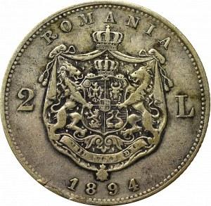 Romania, Carol I, 20 lei 1890 B