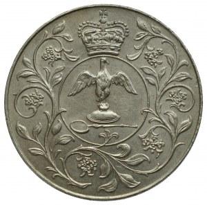 Wielka Brytania, 25 nowych pensów 1977 - srebrny jubileusz