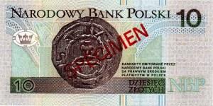 10 złotych 1994 WZÓR - AA 0000000 - Nr. 1098