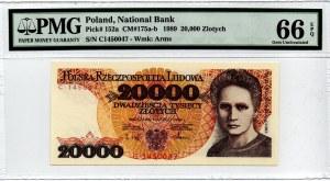 PRL, 20000 złotych 1989 C - PMG 66EPQ