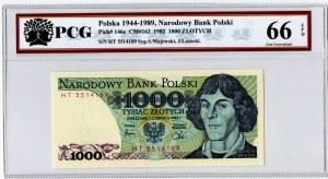 PRL, 1000 złotych 1982 HT - PCG66 EPQ