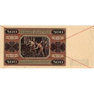 PRL, 500 złotych 1948 - Specimen