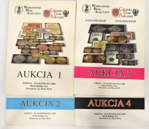 Katalog aukcyjny, WDA-GDA aukcja 1,2,3,4