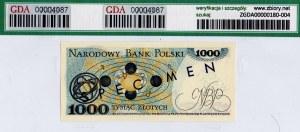 PRL, 1000 złotych 1975 - WZÓR - GDA 64EPQ