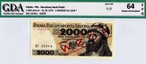 PRL, 2000 złotych 1979 WZÓR -