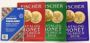 Zestaw katalogów, Fischer 3 szt. i Suchanek-Katalog popularny