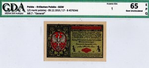 Generalne Gubernatorstwo, 1/2 marki 1916 Generał - GDA 65EPQ