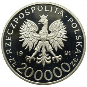 III RP, 200 000 złotych 1991 Gen. bryg. Leopold Okulicki Niedźwiadek 1898-1946