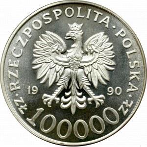 III RP, 100.000 złotych 1990 Solidarność