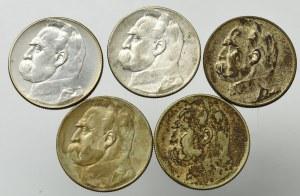 II Rzeczpospolita, Zestaw 5 złotych 1934-36