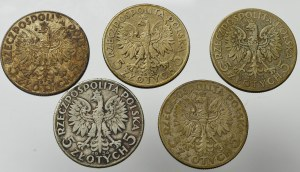 II Rzeczpospolita, Zestaw 5 złotych 1933-34