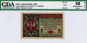 Generalne Gubernatorstwo, 2 marki polskie 1916 Generał - GDA 58