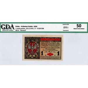 Generalne Gubernatorstwo, 1 marka 1916 B Generał - GDA 50