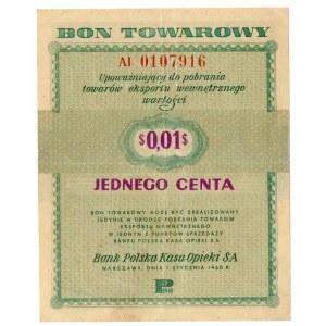 PKO, 1 cent 1960