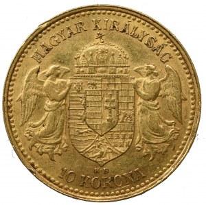 Węgry, Franciszek Józef I, 10 koron 1904 KB, Kremnica