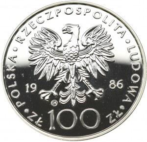 PRL, 100 złotych 1986 Jan Paweł II - Valcambi