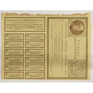 II RP, 4% Państwowa Pożyczka Premiowa 1920 na 1.000 mkp